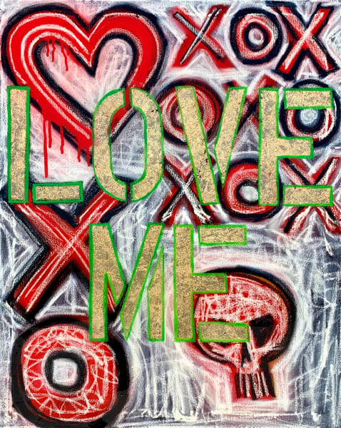 Love Me X O Painting Paul Zepeda Art | Wet Paint NYC