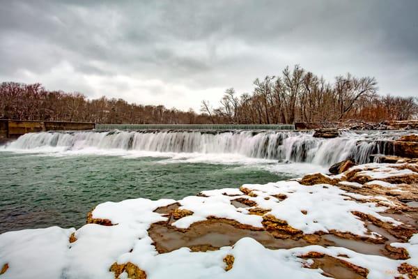Grand Falls Snow 4867  Photography Art | Koral Martin Healthcare Art