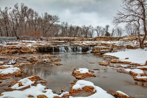 Grand Falls Little 4878 Snow 20  Photography Art | Koral Martin Healthcare Art