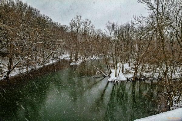 Hard Snow Creekg 4571 Snow 20  Photography Art | Koral Martin Healthcare Art
