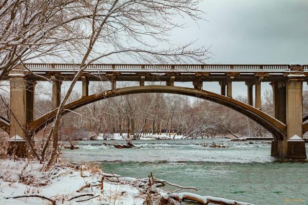 Redings Mill Bridge Snow 4762  Photography Art | Koral Martin Healthcare Art