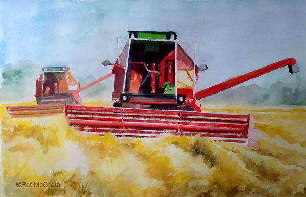 Harvesting Barley #1 Art | East End Arts