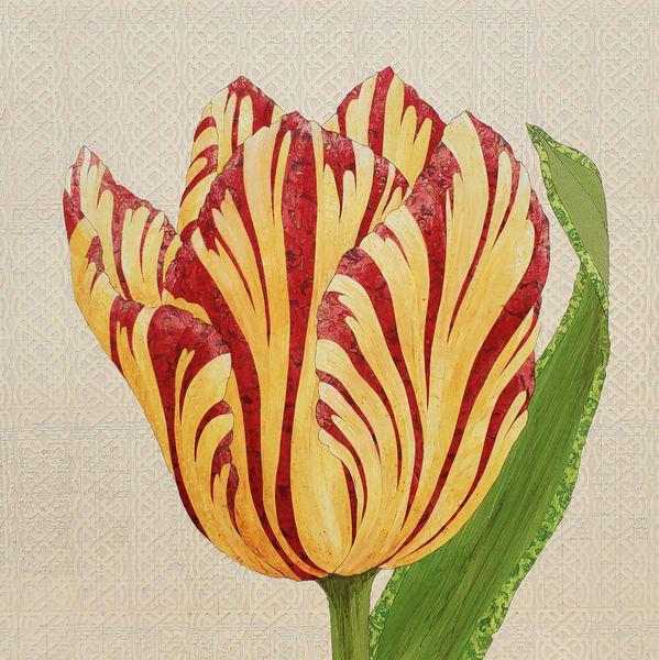 Flower Portrait #2 Art | Karen Sikie Paper Mosaic Studio