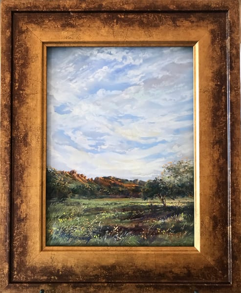 Lindy C Severns Art | Summer Morning in the Davis Mountains, original pastel