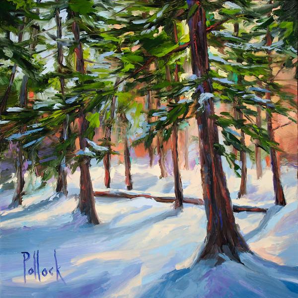 Study, Winter Pines original oil painting | Sarah Pollock Studio