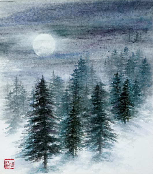 Moon And Pine Art | donnadacuti