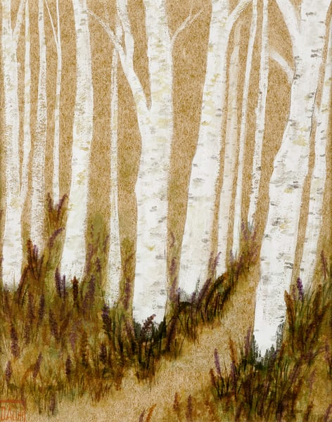 Birch On Gold Art | donnadacuti