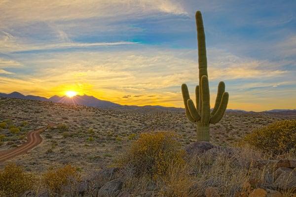 Four Peaks North Side Sunrise Photography Art   Whispering Impressions