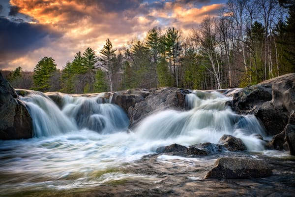 Sunset at Swift River Falls | Shop Photography by Rick Berk