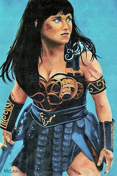 Xena, Warrior Princess, From an Original Oil Painting