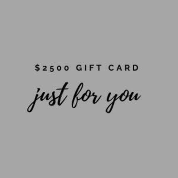 $2500 Gift Card | Terry Sauve Fine Art
