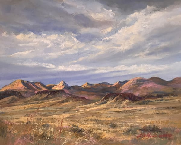 Lindy Cook Severns Art | Shadows of the Passing Day, original pastel
