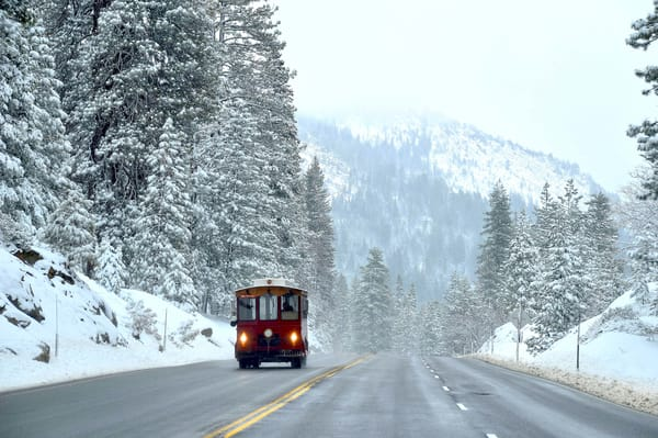 Snow Cable Car Photograph – Motorized able Car Art Photography - Fine Art Prints on Canvas, Paper, Metal & More