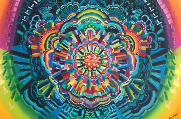 Discovery Mandala Brushstroke Painting
