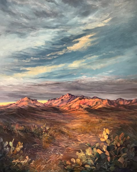 Lindy Cook Severns Art | Wandering Into Sunset, print