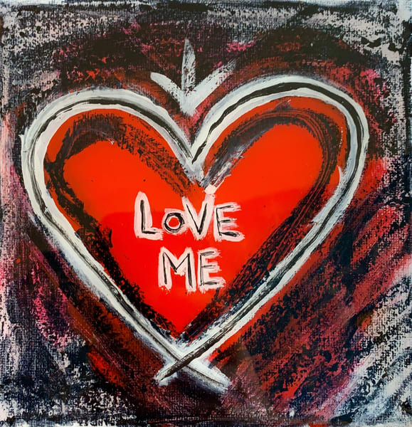 Love Me: Small Heart Art | Wet Paint NYC