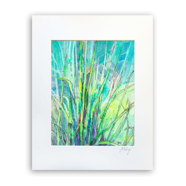 The Grass Is Greener   8x10 Matted Print   Terrie Haley Artist