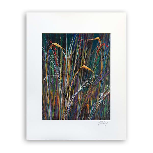 Night Grass   8x10 Matted Print   Terrie Haley Artist