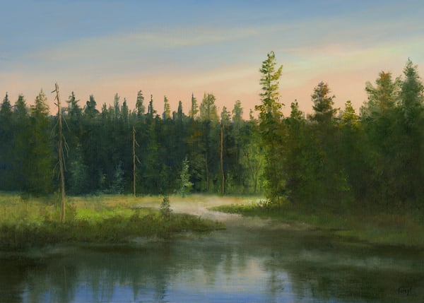 *Misty Morning At My Favorite Adk Marsh Art | Tarryl Fine Art