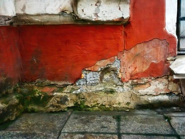 Red Wall   Urban Decay Series Art   smalljoysstudio