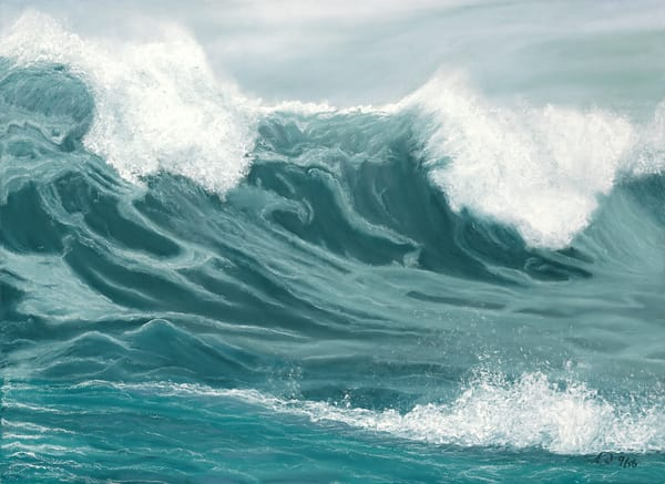 S.Gehring - Oregon Coast Wave Art - Winter Storm Seaside