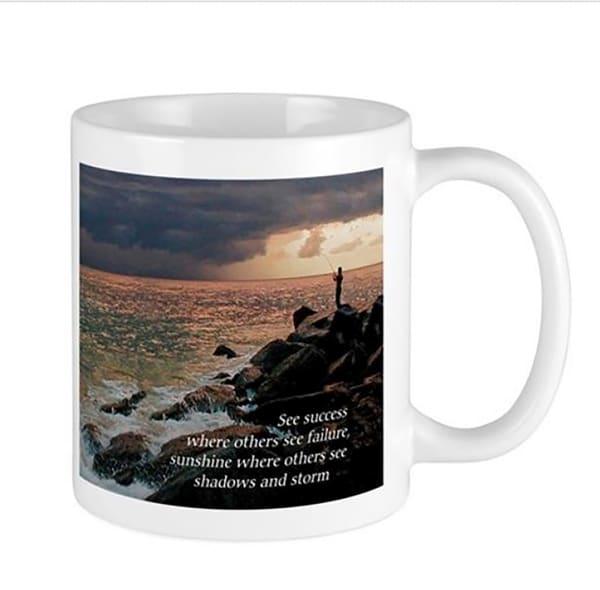 Fishing In Storm Mug | It's Your World - Enjoy!