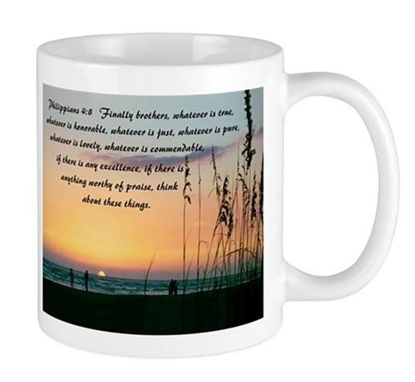 Philippians 4:8 Mug | It's Your World - Enjoy!