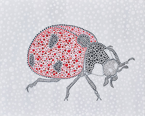 Lady Bug Dot Art Painting