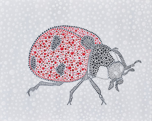 Lucky Lady Bug Dot Print
