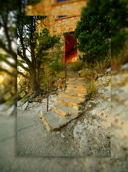 Grand Canyon   Stairway 3 D Photography Art | Whispering Impressions