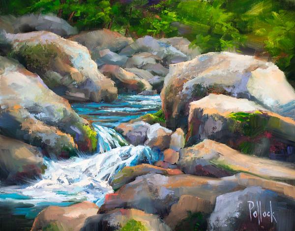 Great Smoky Mountains No. 5 - Tumble original oil painting | Sarah Pollock Studio