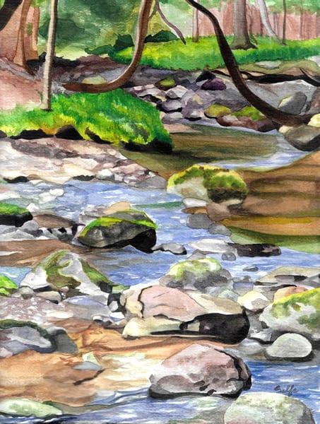 Creek Walking | Watercolor