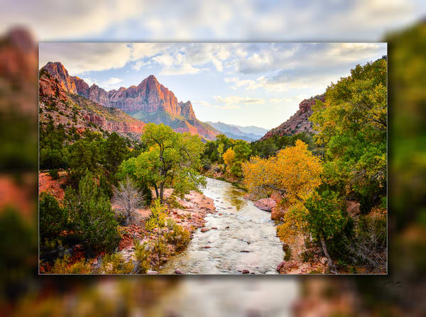 Zion   Watchman H 3 D Photography Art | Whispering Impressions