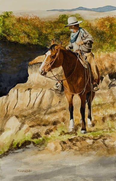 "Raymond Wattenhofer Original Art Watercolor ""A Glimpse"""