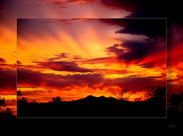Tuscon Sunset 3 D  Photography Art | Whispering Impressions