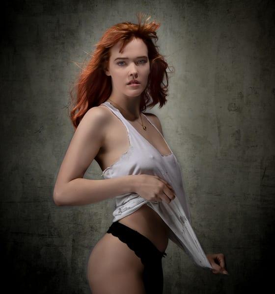 Violet In White Tank Photography Art   Dan Katz, Inc.