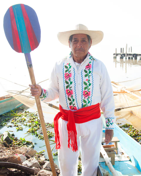 Butterfly Fisherman in Janitzio, Mexico