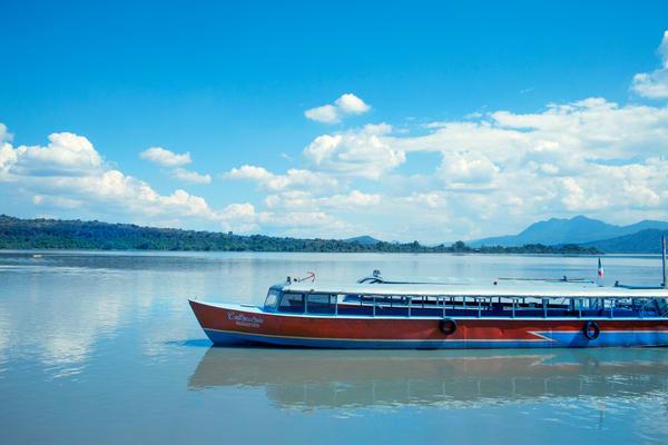passenger boat in Janitzio, Mexico