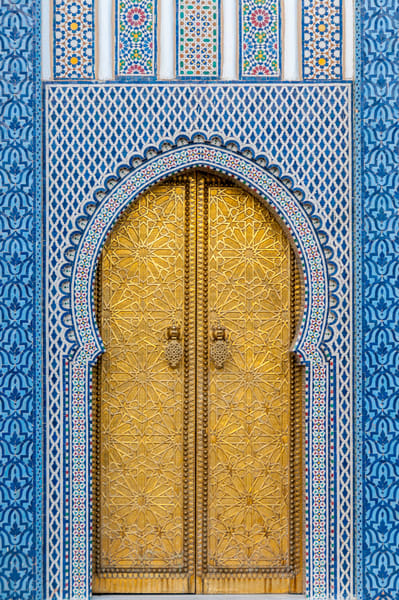 Palace door morocco