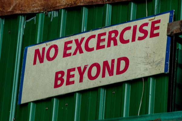 no excercise