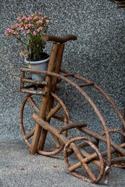 Bike flower pot holder