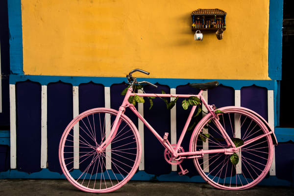 Pink bike Colombia