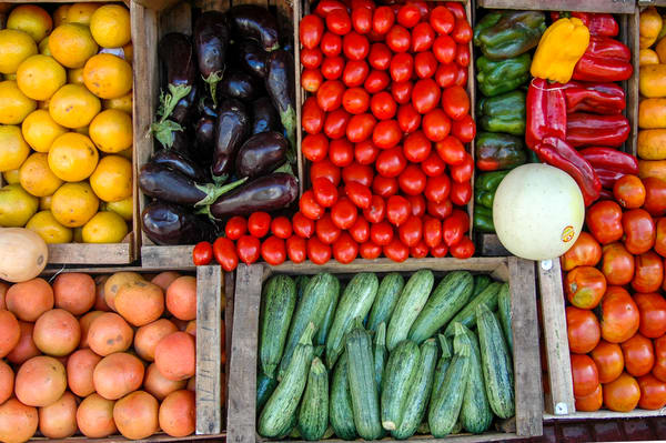 Vegetable display Argentina