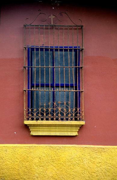 Colonial Guatemalan maroon wall