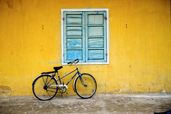 Vietnam bike by Yellow wall