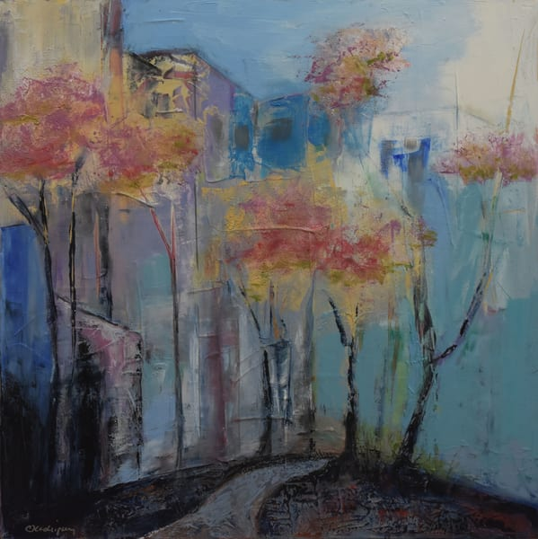 Springtime In The Park   Location: Audacity Fine Art Gallery, Roseville, Ca Art | Connie Rodriguez Fine Art