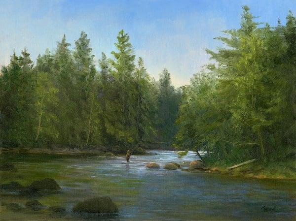 *Fly Fishing The Saranac River* Art | Tarryl Fine Art