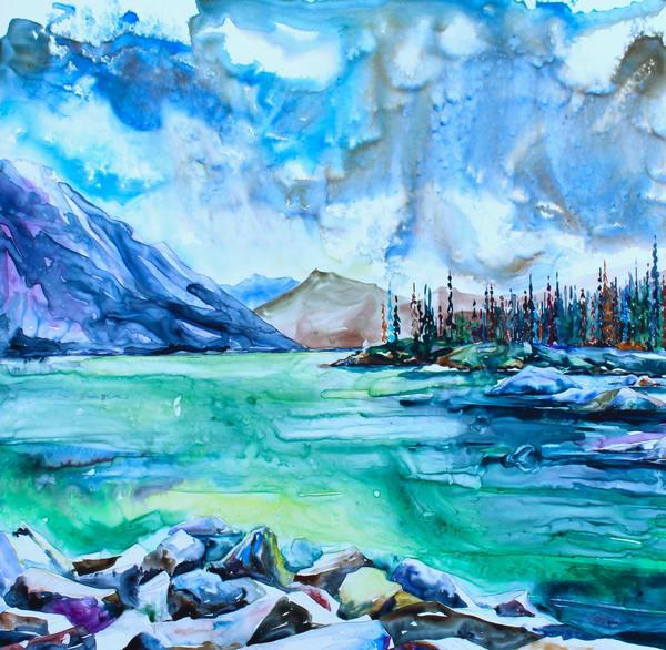 Medicine Lake, After The Fire | Karen Bishop Artist