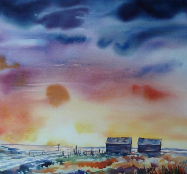 Two Old Barns | Karen Bishop Artist