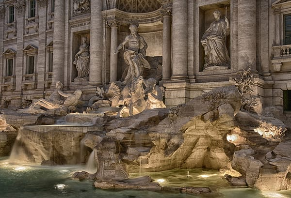 Evening At The Trevi Photography Art | Michael Sandy Photography